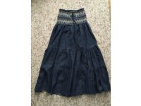 Demin sequin Tube Dress/ Maxi Skirt Size 8-10 Paypal accept