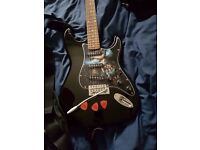 electric guitar with custom decal and case etc - open to offers