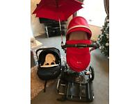 Silver cross surf chilli red complete travel system! Includes isofix