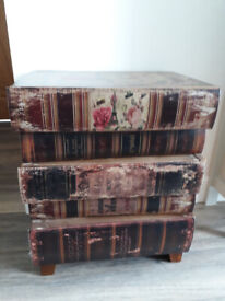 Vintage faux books chest of drawers