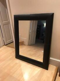 2 x Next Faux Leather mirrors