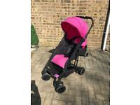 Recarro pink pushchair & extras