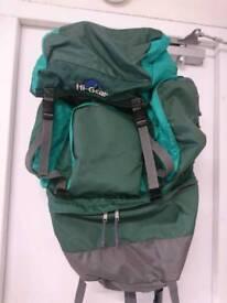 Hi Gear 80 litre rucksack.