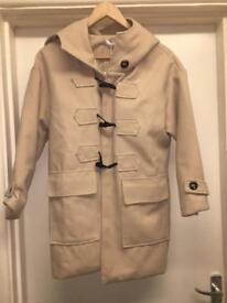 New camel/ cream duffel coat