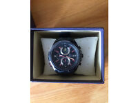 Casio Edifice Men's Watch NEW with date function, backlight, & stopwatch (Model no. EFR536PB1A3VEF)