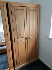 Double Wardrobe - Oak