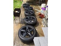 17 alloys wheels set of 5, goo tyres !!