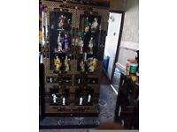 Black laquerd oriental mother of pearl. Display cabinet forsale