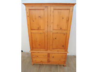 Wardrobe solid wood with drawers (Delivery)