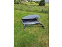 halfords 250ltr roof box and roof bars