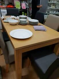 Large dining table modern shape