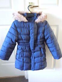 Debenhams girls winter jacket 6-7 years old