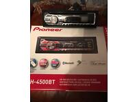 Pioneer deh-4500bt radio cd with parrot