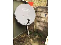big Satellite Dish - Quad LNB