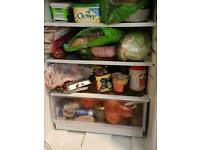 Under counter fridge and chest freezer