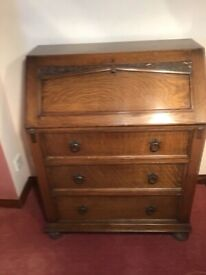 Vintage oak bureau.