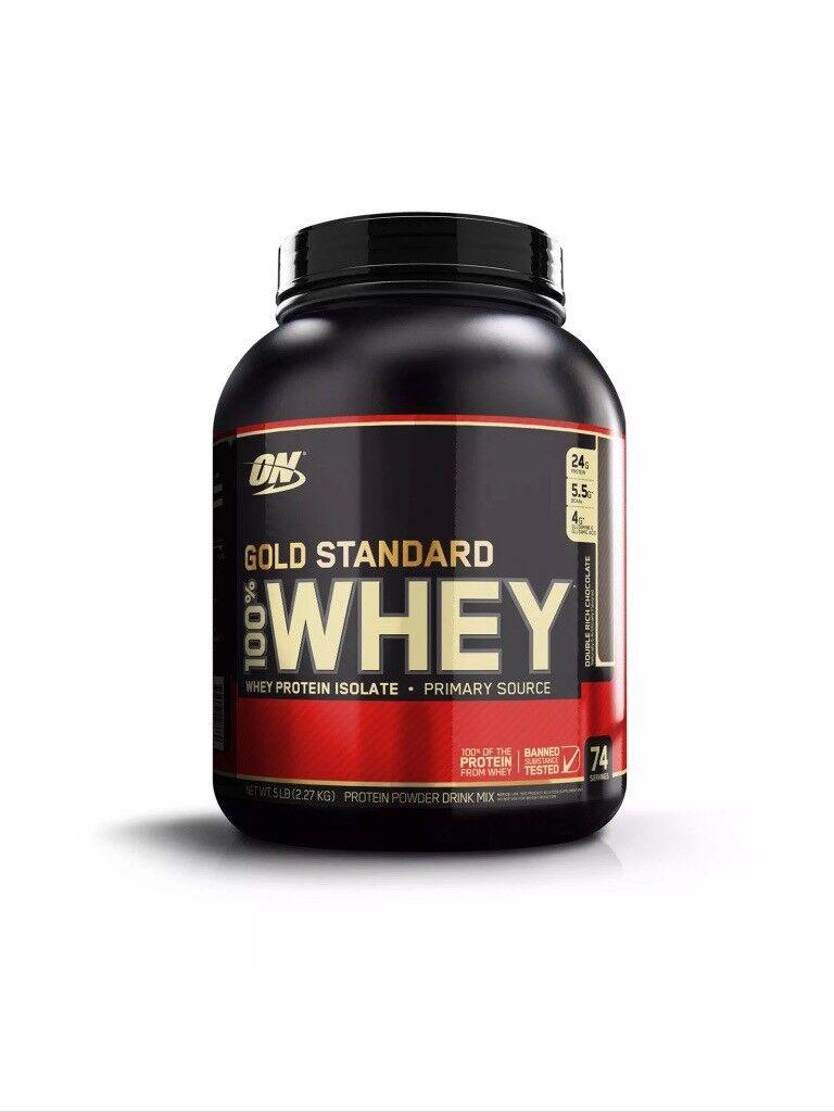 Optimum Nutrition Whey Protein 2.27kg Tubs 100% Genuine!