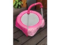 Pink toddler trampoline
