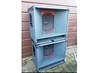 2 x 200W PA Speakers Custom Sounds Bass bins .