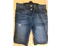 Men's River Island denim shorts ,