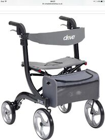 Drive nitro heavy duty rollator. Carries up to 30 stones in body weight. This is like