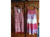 2 x girl dresses aged 7 - 8
