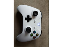 White Xbox One wireless controller.