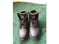 Black Steel toe cap boots(size 5)
