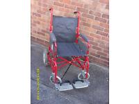 Folding portable wheelchair