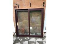 Brown upvc sliding patio doors