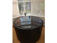Next gloss black table and 4 chairs