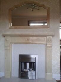 Fire Place and marble hearth with back plate...........( FOR SALE )