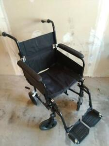 Transport chair (about half the weight of a manual wheelchair) for ONLY $80
