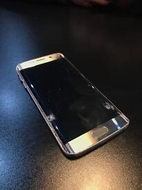 Galaxy s6 edge fully working, o2, screen cracked but touch working
