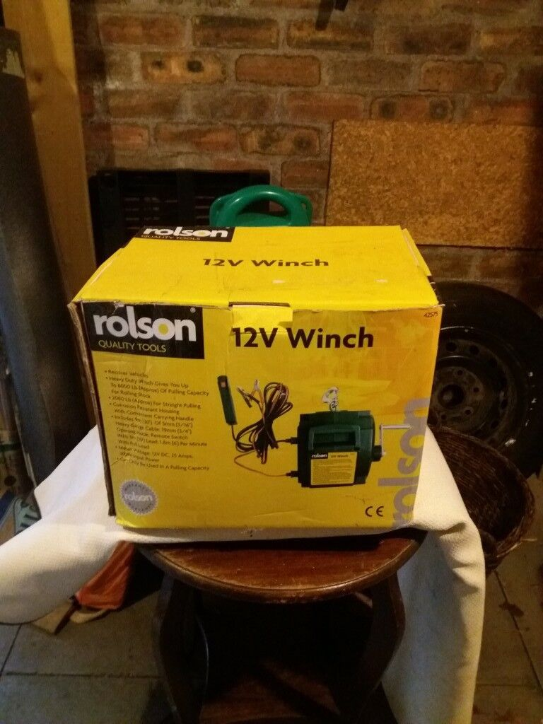 Rolson 12 volt battery powered winch in menstrie rolson 12 volt battery powered winch publicscrutiny Choice Image