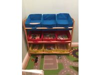 Children kids storage shelves unit