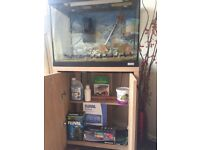 Fluval fish tank with stand complete with heater, pump and everything you see in photos