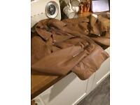 Tan faux leather jacket