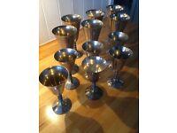 Vintage silver plated goblets