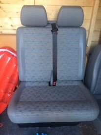 VW T5 front seats. Single and double