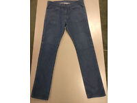 Levi 510 Skinny Fit Blue Mens Jeans (RRP £90), W34/L32 in excellent condition