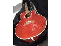 Takamine (1998) Semi-Acoustic Guitar (Dark Brown Wooden finish)