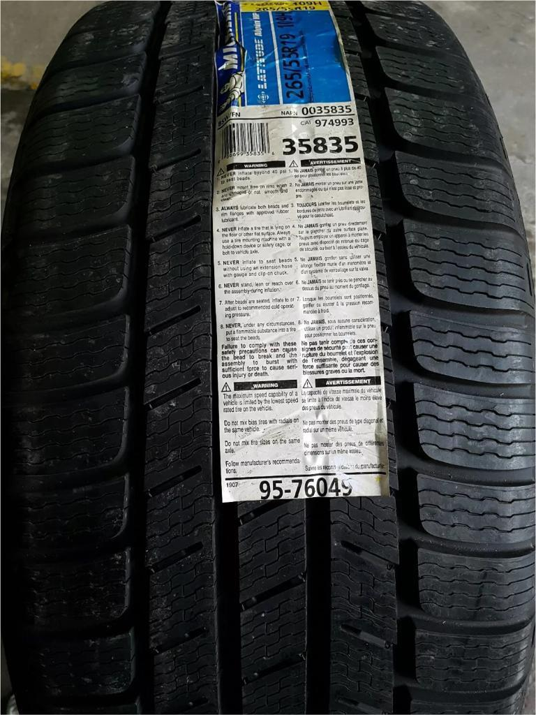 BRAND NEW MICHELINE LATTITUDE ALPIN HP TYRE 265 55 19 109H (FREE NATIONWIDE DELIVERY)