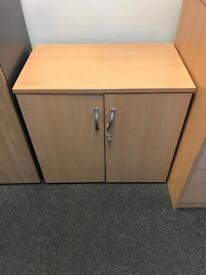 Beech office cupboard