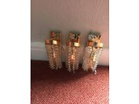 crystal glass cieling and wall lights