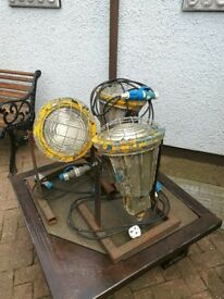 Vintage Industrial Army Base Lights. Suitable for outdoors in All weather conditions.