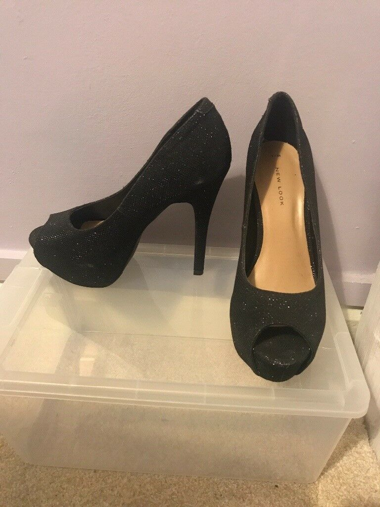 Glittery Heels From Hazel Grove 538In New Black LookSize pUMSzV