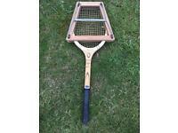 Vintage Slazenger Tournament Model Tennis Racket with Branded Clamp