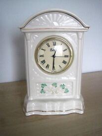 Belleek Pottery Glenveigh Mantel Clock.