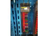 12pc 1/4drv coloured sockets